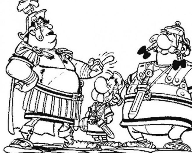 Coloriage Asterix Et Les Romains Dessin Gratuit A Imprimer