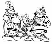 Coloriage et dessins gratuit Astérix, Obélix et Les Romains à imprimer