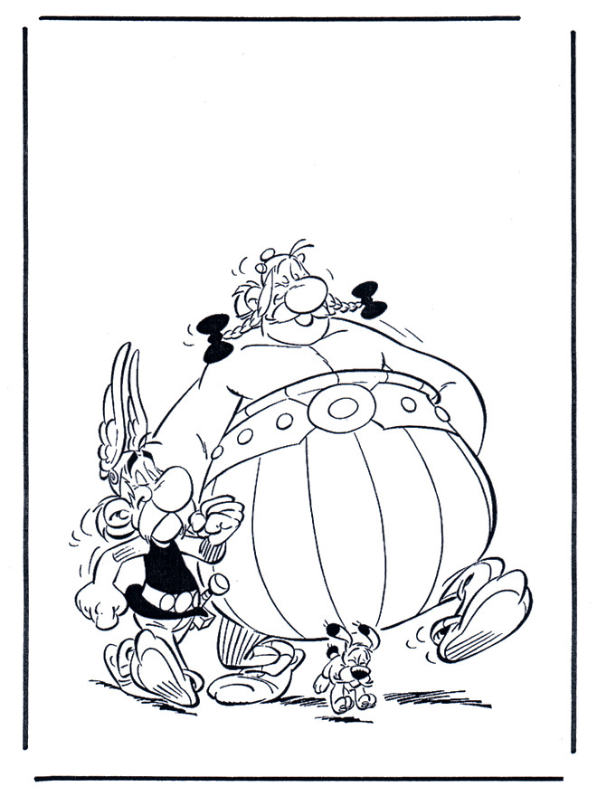 Coloriage et dessins gratuits Obélix à télécharger à imprimer