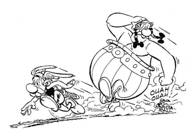 Coloriage et dessins gratuits Obélix court à imprimer