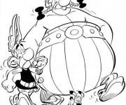 Coloriage Obélix et son ami