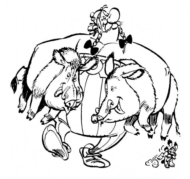 Coloriage et dessins gratuits Obélix  Le gourmand à imprimer