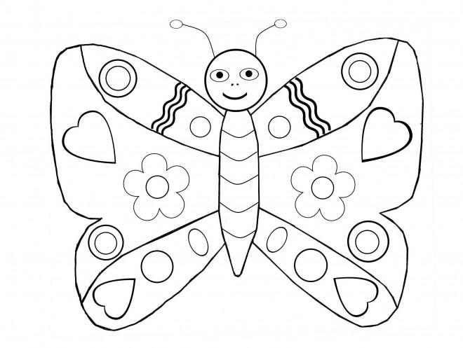 Coloriage et dessins gratuits Une papillon sur ordinateur à imprimer