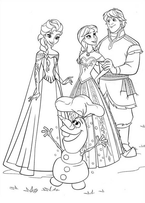 Coloriage elsa reine de neige et olaf dessin gratuit imprimer - Coloriage anna et elsa ...