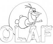 Coloriage Image Olaf à imprimer