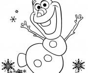 Coloriage et dessins gratuit Olaf dessin couleur à imprimer