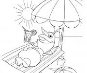 Coloriage Olaf en été