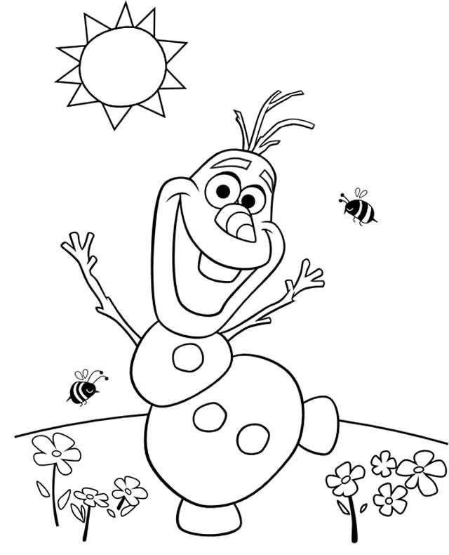 Coloriage et dessins gratuits Olaf entrain de danser à imprimer