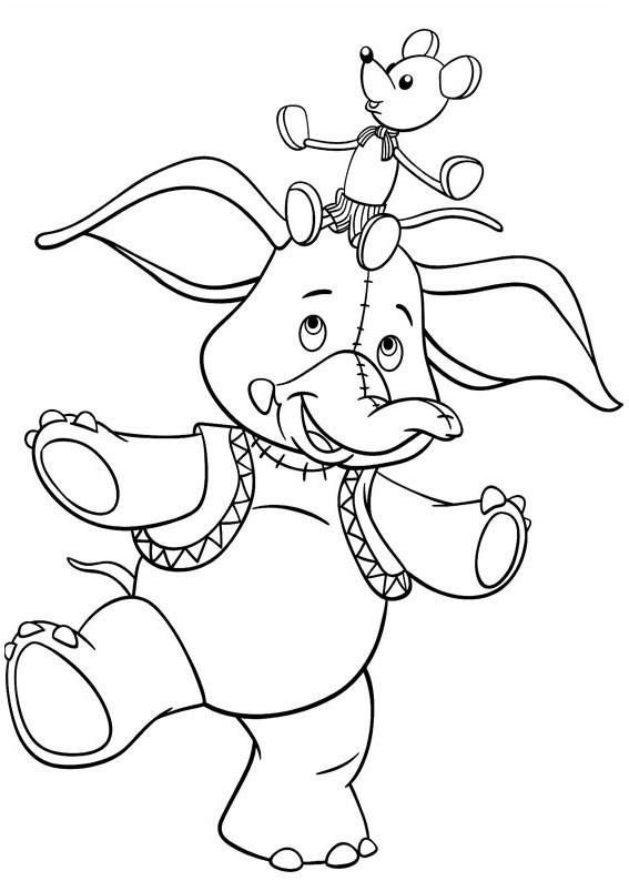 Coloriage et dessins gratuits Dumbo simple à imprimer
