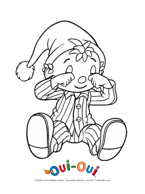 Coloriage image colorier oui oui dessin gratuit imprimer - Le dessin anime oui oui ...