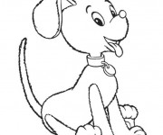 Coloriage et dessins gratuit Le chien de Oui Oui à imprimer