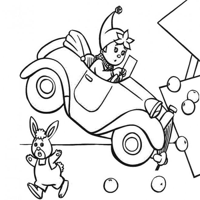 Coloriage oui oui bouscula le panneau dessin gratuit imprimer - Le dessin anime oui oui ...
