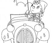 Coloriage et dessins gratuit Oui Oui et sa voiture à imprimer