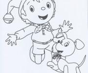 Coloriage et dessins gratuit Oui Oui et son chien à imprimer