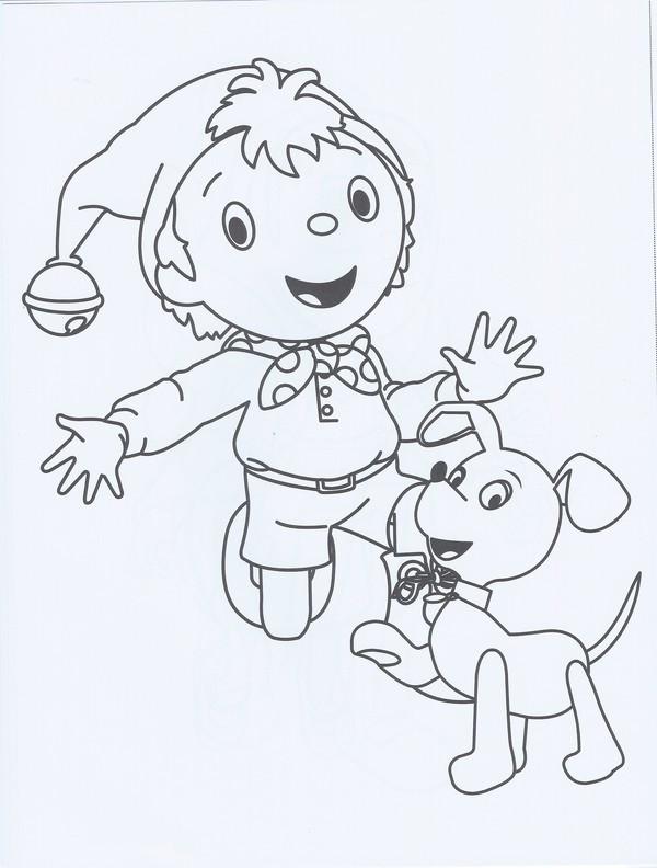 Coloriage oui oui et son chien dessin gratuit imprimer - Oui oui a imprimer ...