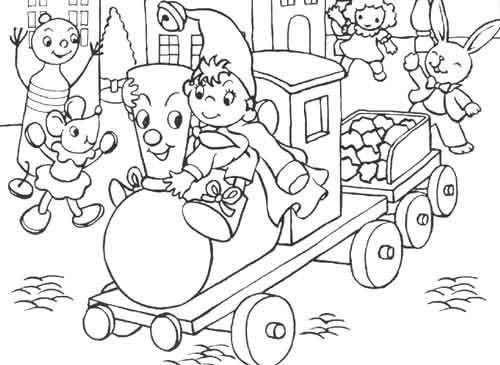 Coloriage oui oui prend le train dessin gratuit imprimer - Le dessin anime oui oui ...