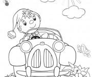 Coloriage et dessins gratuit Oui-Oui voiture à imprimer