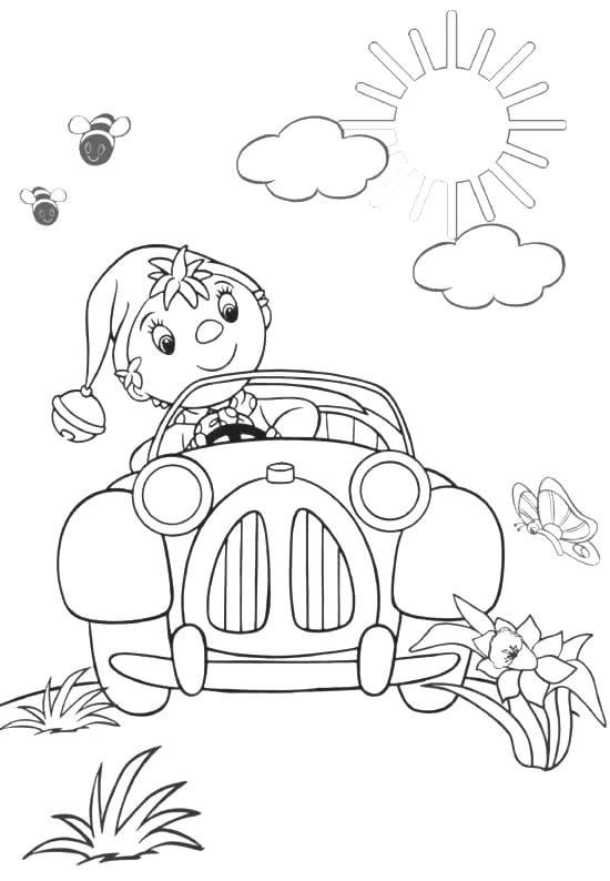 Coloriage et dessins gratuits Oui-Oui voiture à imprimer