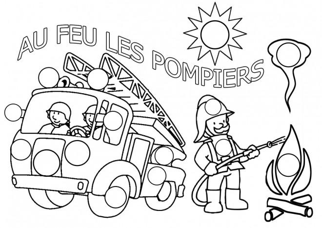 Coloriage pat patrouille au feu les pompiers dessin - Dessin pompier facile ...