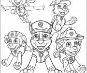Coloriage et dessins gratuit Pat Patrouille en ligne à imprimer