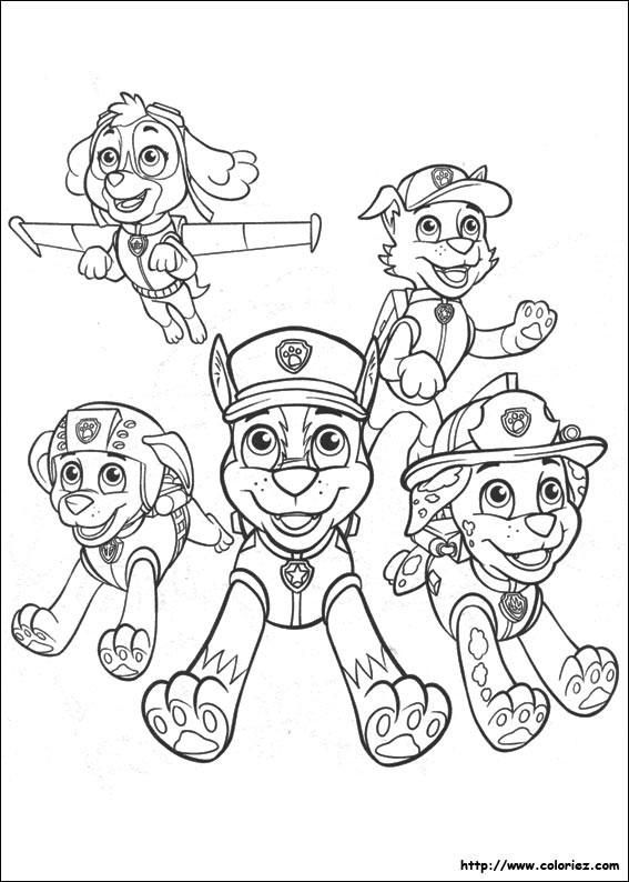 Coloriage et dessins gratuits Pat Patrouille en ligne à imprimer