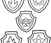 Coloriage et dessins gratuit Pat Patrouille et leurs médailles à imprimer
