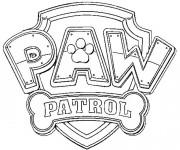 Coloriage et dessins gratuit Pat Patrouille logo à imprimer