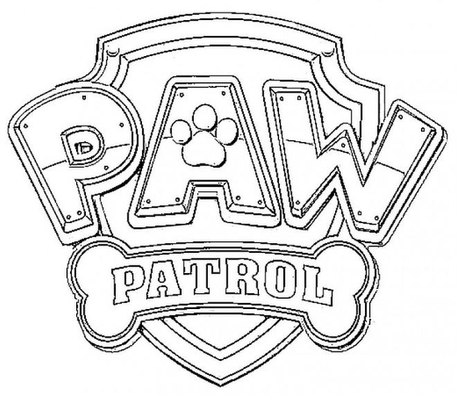Coloriage Pat Patrouille Logo Dessin Gratuit à Imprimer