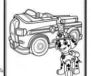 Coloriage et dessins gratuit Pat Patrouille Marcus le pompier à imprimer