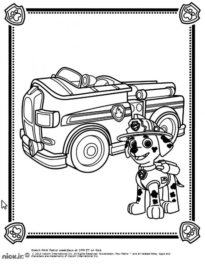 Coloriage et dessins gratuits Pat Patrouille Marcus le pompier à imprimer