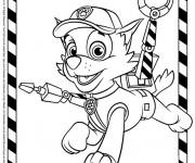 Coloriage et dessins gratuit Pat Patrouille Rocky à imprimer