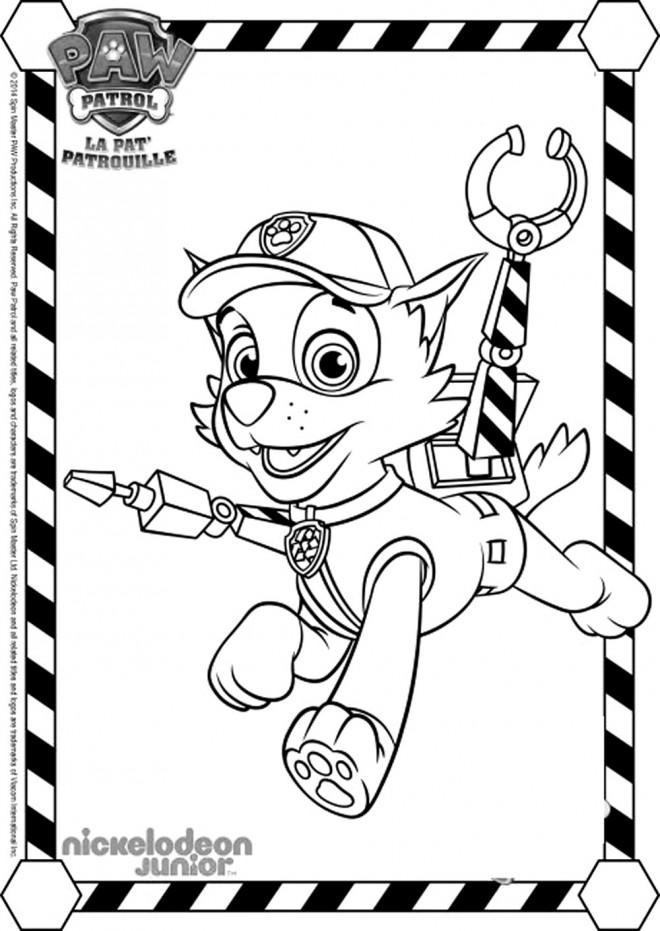 Coloriage Pat Patrouille Rocky dessin gratuit imprimer