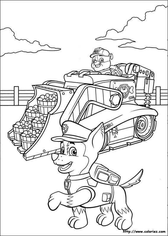 Coloriage et dessins gratuits Pat Patrouille Ruben et Chase à imprimer