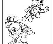 Coloriage et dessins gratuit Pat Patrouille Ruben et Rocky à imprimer