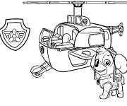 Coloriage et dessins gratuit Pat Patrouille Stella et l'hélicoptère à imprimer