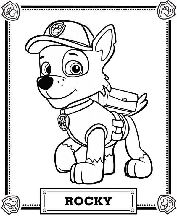 Coloriage et dessins gratuits Rocky de la Pat Patrouille à imprimer