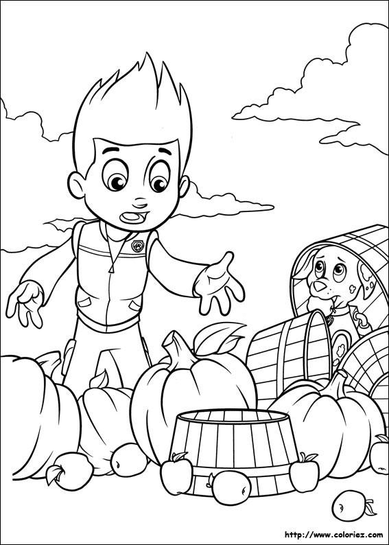 Coloriage et dessins gratuits Ryder et la gaffe de Marcus Pat Patrouille à imprimer