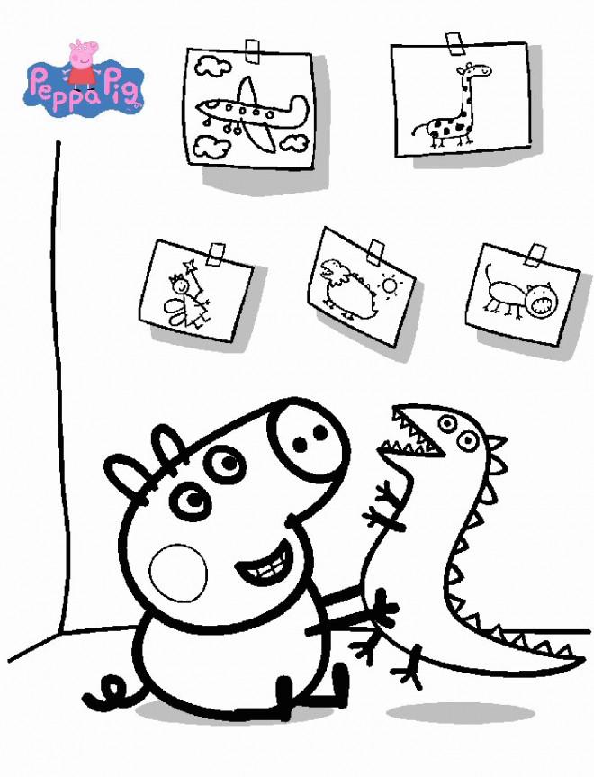 Coloriage et dessins gratuits Peppa Cochon à imprimer