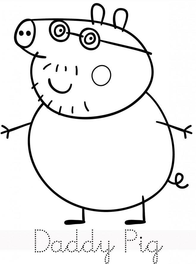 Coloriage et dessins gratuits Peppa Cochon stylisé à imprimer