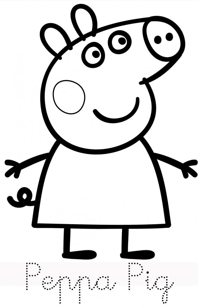 Coloriage et dessins gratuits Peppa Cochon vecteur à imprimer