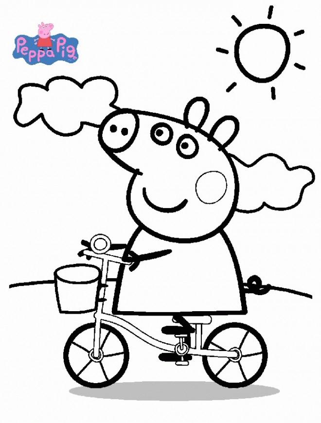 Coloriage peppa pig 1 dessin gratuit imprimer - Dessin a imprimer peppa pig ...