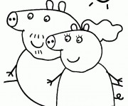Coloriage dessin  Peppa Pig 10