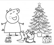 Coloriage dessin  Peppa Pig 13