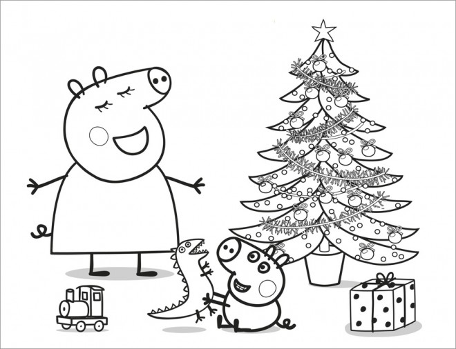 Coloriage et dessins gratuits Peppa Pig 13 à imprimer