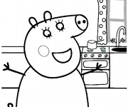 Coloriage dessin  Peppa Pig 14