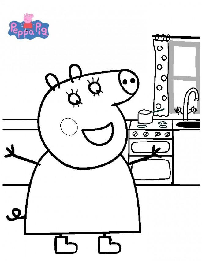 Coloriage et dessins gratuits Peppa Pig 14 à imprimer