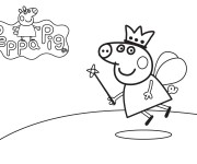 Coloriage dessin  Peppa Pig 15