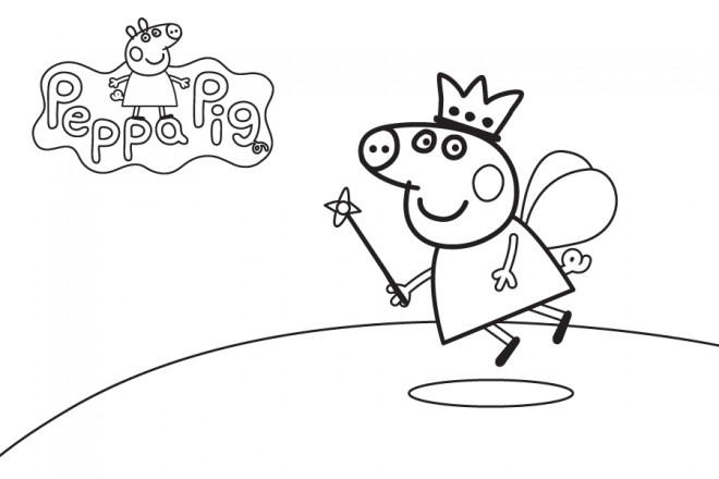 Coloriage et dessins gratuits Peppa Pig 15 à imprimer