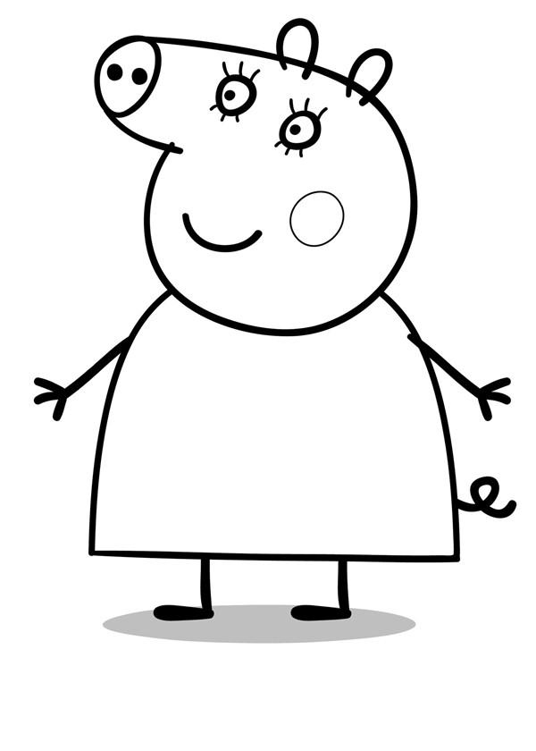 Coloriage et dessins gratuits Peppa Pig 17 à imprimer