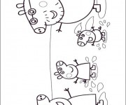 Coloriage dessin  Peppa Pig 19